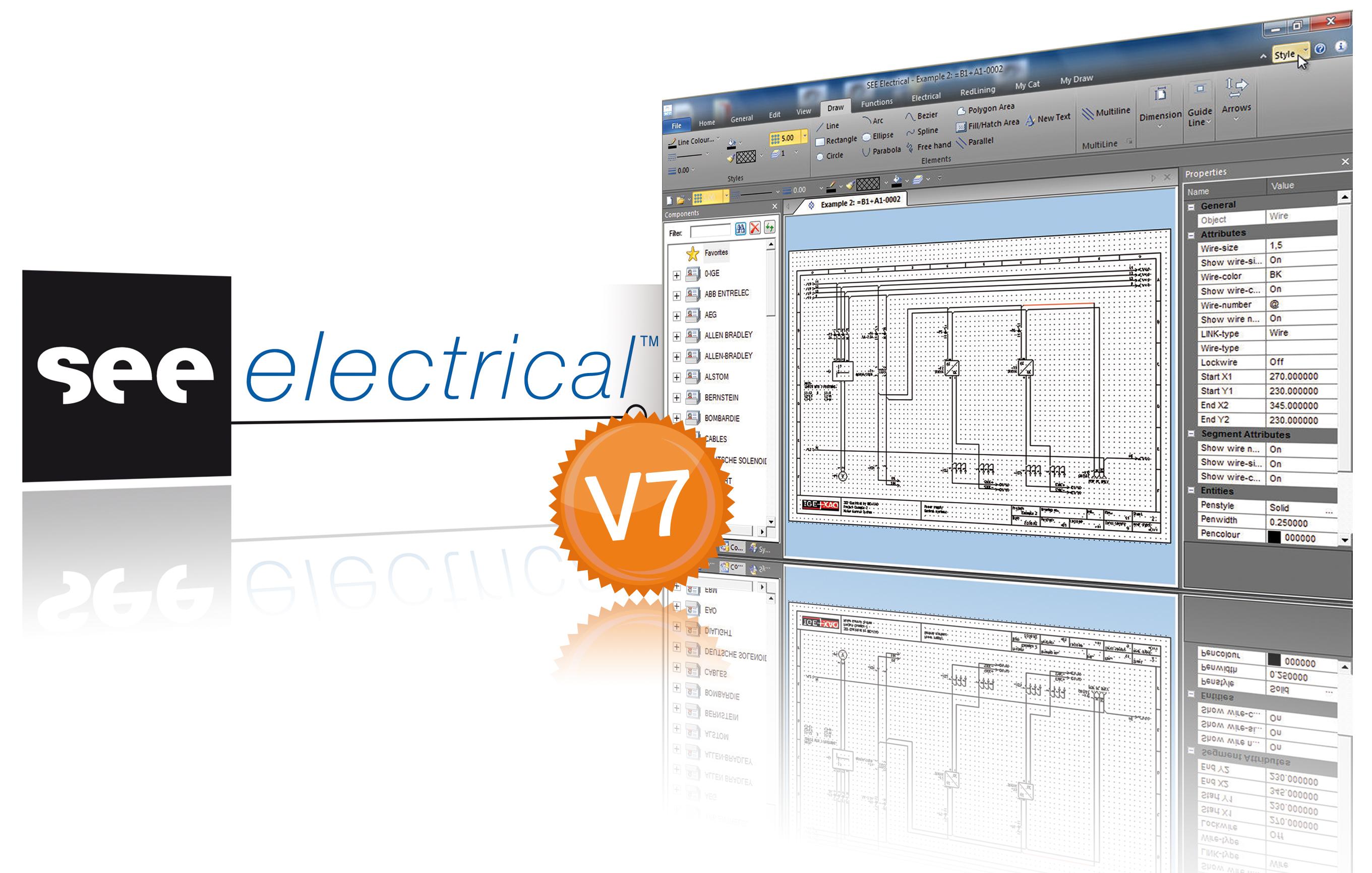 Schemi Elettrici Cad : Ige xao propone il cad elettrico see electrical v7 automazione plus