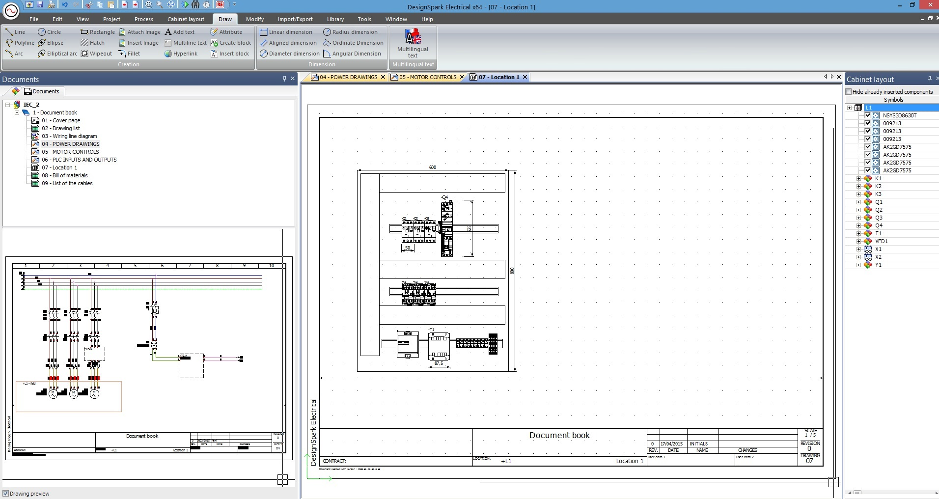 Rs presenta designspark electrical il cad elettrico for Software gratuito per il layout del garage