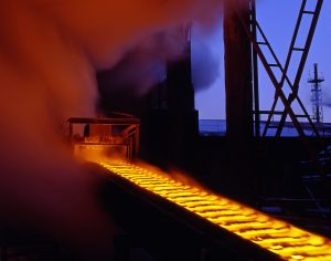 Automated production processes, molten metal