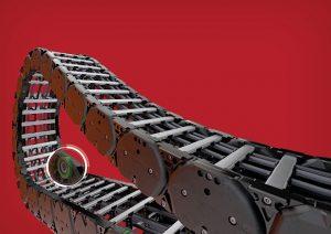 Kabelschlepp: versione con rulli integrati nella catena serie TKHD